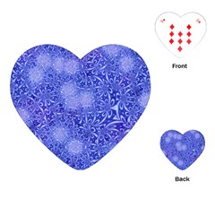 Retro Flower Pattern Design Batik Playing Cards (Heart)
