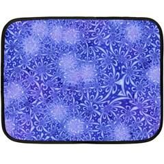 Retro Flower Pattern Design Batik Double Sided Fleece Blanket (Mini)