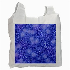 Retro Flower Pattern Design Batik Recycle Bag (one Side)