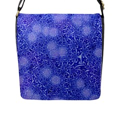 Retro Flower Pattern Design Batik Flap Messenger Bag (L)