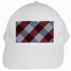 Textile Geometric Retro Pattern White Cap