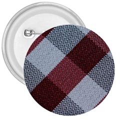 Textile Geometric Retro Pattern 3  Buttons
