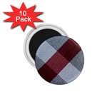 Textile Geometric Retro Pattern 1.75  Magnets (10 pack)  Front