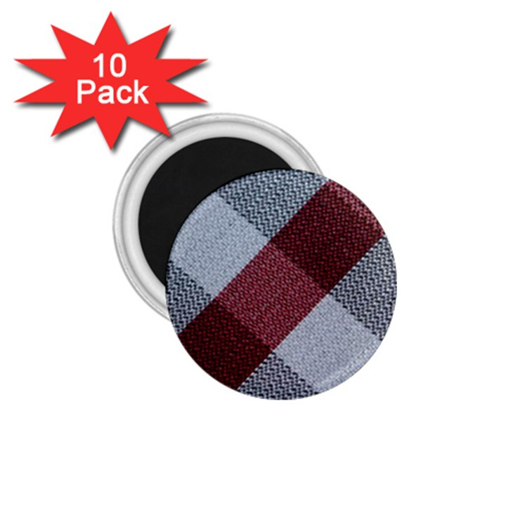Textile Geometric Retro Pattern 1.75  Magnets (10 pack)