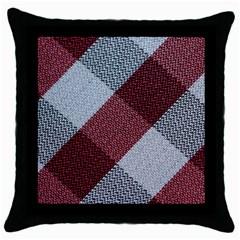Textile Geometric Retro Pattern Throw Pillow Case (black)