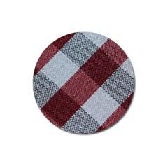 Textile Geometric Retro Pattern Magnet 3  (Round)