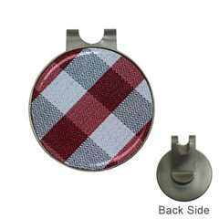 Textile Geometric Retro Pattern Hat Clips with Golf Markers