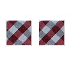 Textile Geometric Retro Pattern Cufflinks (Square)
