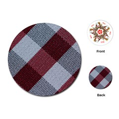Textile Geometric Retro Pattern Playing Cards (Round)