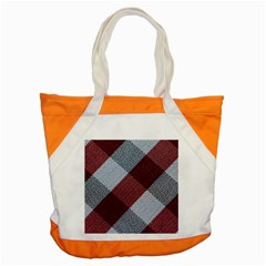 Textile Geometric Retro Pattern Accent Tote Bag