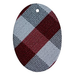 Textile Geometric Retro Pattern Oval Ornament (two Sides)