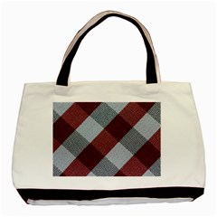 Textile Geometric Retro Pattern Basic Tote Bag (Two Sides)