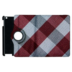 Textile Geometric Retro Pattern Apple Ipad 2 Flip 360 Case