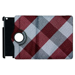 Textile Geometric Retro Pattern Apple iPad 3/4 Flip 360 Case