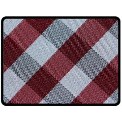 Textile Geometric Retro Pattern Double Sided Fleece Blanket (large)