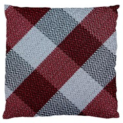 Textile Geometric Retro Pattern Large Flano Cushion Case (Two Sides)