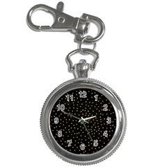 Grunge Retro Pattern Black Triangles Key Chain Watches