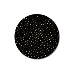 Grunge Retro Pattern Black Triangles Magnet 3  (round)