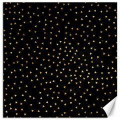 Grunge Retro Pattern Black Triangles Canvas 12  x 12