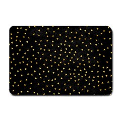 Grunge Retro Pattern Black Triangles Small Doormat