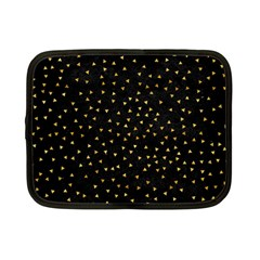 Grunge Retro Pattern Black Triangles Netbook Case (small)