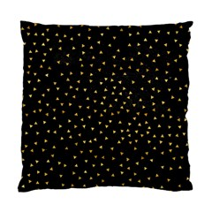 Grunge Retro Pattern Black Triangles Standard Cushion Case (one Side)