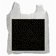 Grunge Retro Pattern Black Triangles Recycle Bag (two Side)