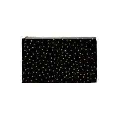 Grunge Retro Pattern Black Triangles Cosmetic Bag (small)