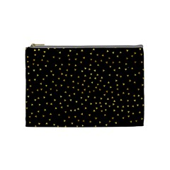 Grunge Retro Pattern Black Triangles Cosmetic Bag (Medium)