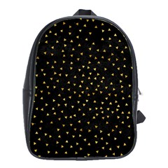 Grunge Retro Pattern Black Triangles School Bags(large)
