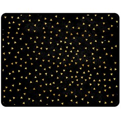 Grunge Retro Pattern Black Triangles Fleece Blanket (Medium)
