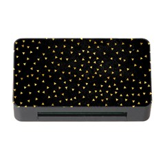 Grunge Retro Pattern Black Triangles Memory Card Reader with CF