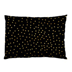 Grunge Retro Pattern Black Triangles Pillow Case (Two Sides)