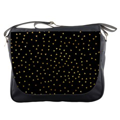 Grunge Retro Pattern Black Triangles Messenger Bags