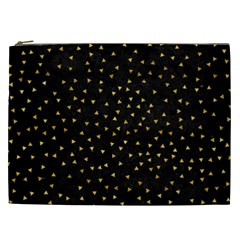Grunge Retro Pattern Black Triangles Cosmetic Bag (xxl)