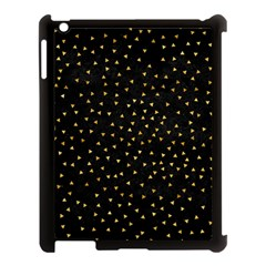 Grunge Retro Pattern Black Triangles Apple Ipad 3/4 Case (black)