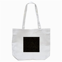 Grunge Retro Pattern Black Triangles Tote Bag (White)