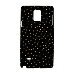 Grunge Retro Pattern Black Triangles Samsung Galaxy Note 4 Hardshell Case