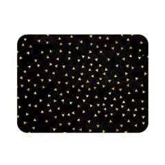 Grunge Retro Pattern Black Triangles Double Sided Flano Blanket (Mini)