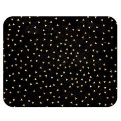 Grunge Retro Pattern Black Triangles Double Sided Flano Blanket (Medium)