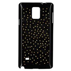 Grunge Retro Pattern Black Triangles Samsung Galaxy Note 4 Case (Black)