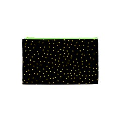 Grunge Retro Pattern Black Triangles Cosmetic Bag (xs)