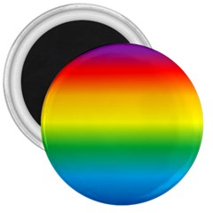 Rainbow Background Colourful 3  Magnets