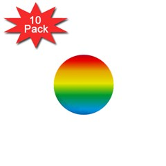 Rainbow Background Colourful 1  Mini Buttons (10 pack)