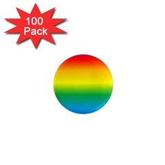Rainbow Background Colourful 1  Mini Magnets (100 pack)