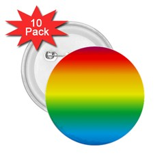 Rainbow Background Colourful 2.25  Buttons (10 pack)