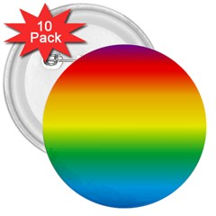 Rainbow Background Colourful 3  Buttons (10 Pack)
