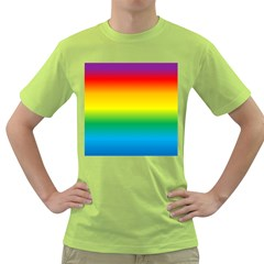 Rainbow Background Colourful Green T Shirt