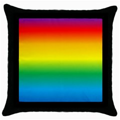 Rainbow Background Colourful Throw Pillow Case (Black)