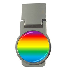 Rainbow Background Colourful Money Clips (Round)